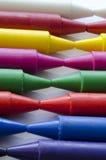 Set of crayons. Close up set of crayons and mix color Stock Photography