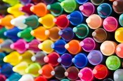 Set of crayons. Close up set of crayons and mix color Stock Images
