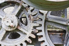 Close-up of a set of metallic gear Stock Images
