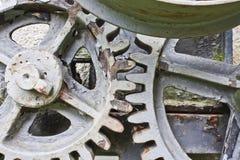 Close-up of a set of metallic gear. Close-up of a set of metallic rusty gear Stock Images