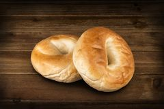 Close up on a set of plain bagel. royalty free stock photo