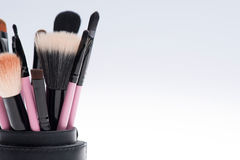 Close-up set of  professional  pink make-up Royalty Free Stock Photography