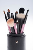 Close-up set of  professional  pink make-up Royalty Free Stock Images