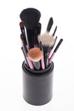 Close-up set of  professional  pink make-up Stock Photography