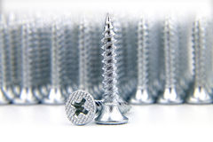 Close up set of screws Stock Image
