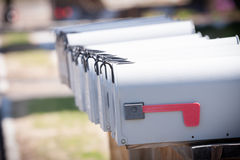 Close up of several mailboxes Royalty Free Stock Photography