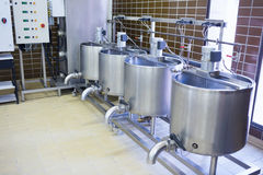 Close up of several vat Stock Photo