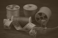 Close up of sewing equipment Royalty Free Stock Image