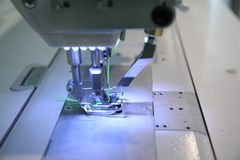 Close-up sewing machine Stock Photos