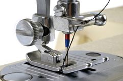 Close up on a sewing machine royalty free stock photography