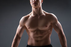 Close up of sexy male's chest Stock Images