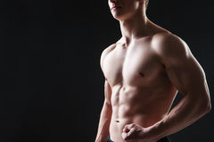 Close up of sexy male's chest Royalty Free Stock Photography