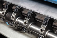 Close-up of shaft offset heavy machine Royalty Free Stock Photos
