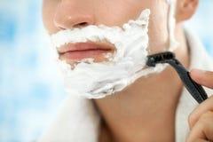 Close up of shaving royalty free stock photo