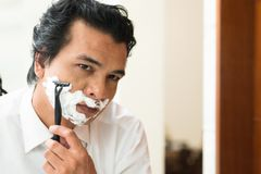 Man's shaving Stock Image