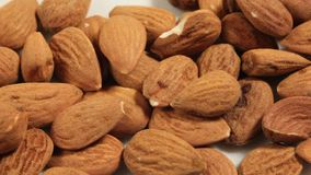 Close-up on Shelled Almonds stock video footage