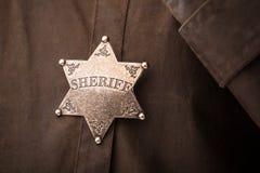 Close up of sheriff badge Stock Photo