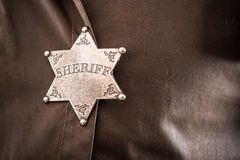 Close up of sheriff badge Stock Photos
