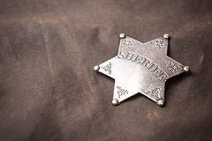 Close up of sheriff badge Stock Image