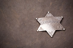 Close up of sheriff badge Royalty Free Stock Image