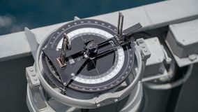 Close up of ship navigation bearing. Navigation bearing is the tool for navigator to find the position his or her ship in the sea Stock Photo