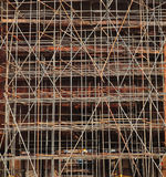 Close up of ship under construction with scaffolding Royalty Free Stock Photos