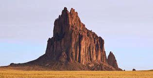 A Close Up of Shiprock in New Mexico Royalty Free Stock Photography