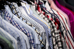 Close up of shirts Royalty Free Stock Photography