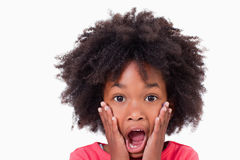 Close up of a shocked girl Royalty Free Stock Images