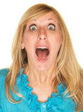 Close Up of Shocked Woman Royalty Free Stock Photos