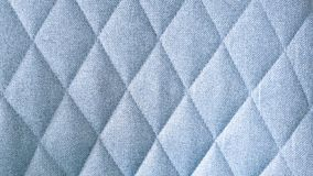 Seamless blue fabric textile rhombus pattern stock photography