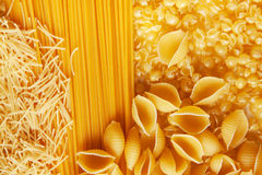 Close up shoot of raw pasta Stock Photography
