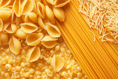 Close up shoot of raw pasta Stock Images