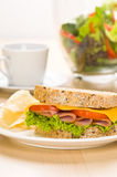 Close-up shoot of a Sandwich with rich Salad Royalty Free Stock Photo