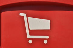 Close up shopping cart Stock Photos