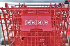 Close up shopping cart Stock Image