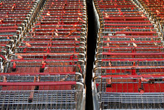 Close up shopping cart Royalty Free Stock Images