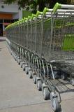 Close up shopping carts Stock Photo