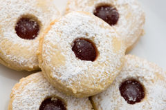 Close up shortbread cookies Stock Images