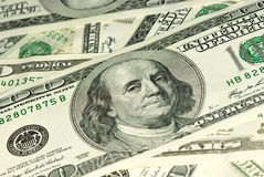Close-up shot of $100 bills Royalty Free Stock Images
