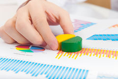 Close up shot of  analyzing diagram Stock Photo