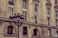 Close up shot of architecture detail in Paris Stock Images