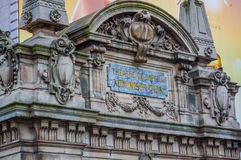 Close up shot of architecture detail, Paris Opera House Royalty Free Stock Images