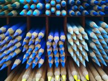 Creative Idea. Art, Drawing And Painting Concept. School And Education Concept. Close Up Shot Of An Assortment Of Colored Pencils. Background Of Colorful royalty free stock photography
