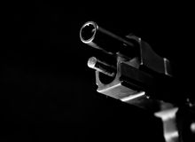 Automatic gun on black 1 Royalty Free Stock Images