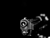 Automatic gun on black 3 Stock Photography