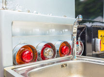 close up shot of  back truck light image Royalty Free Stock Photos