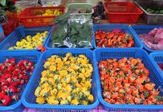 Fresh Flowers for Sale in Little India, Singapore stock images