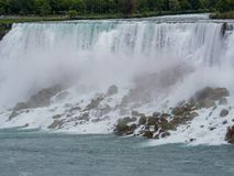 Close up shot of the beautiful Niagara Falls. At Canada stock photo