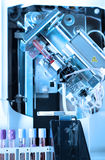 Close up shot of blood test machine in laboratory Stock Photography